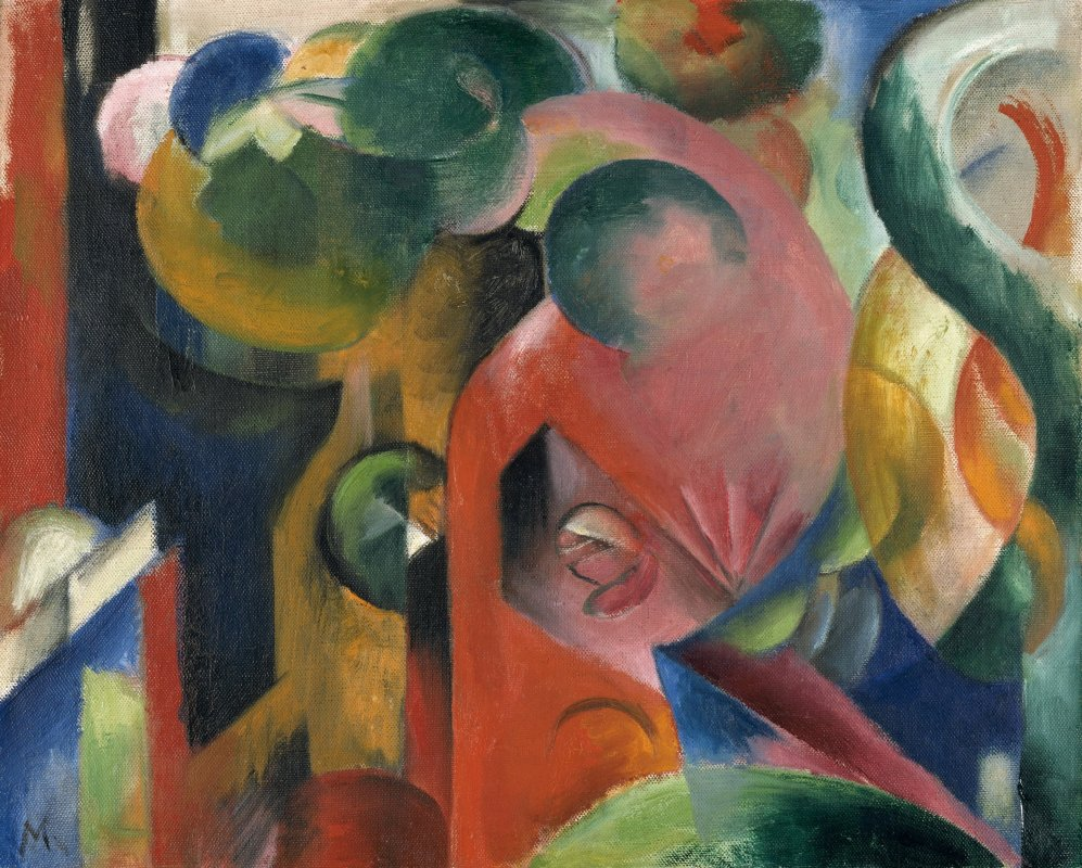Franz Marc: Small Composition III,  1913/14<br />Osthaus Museum Hagen, photo: A. Kukulies