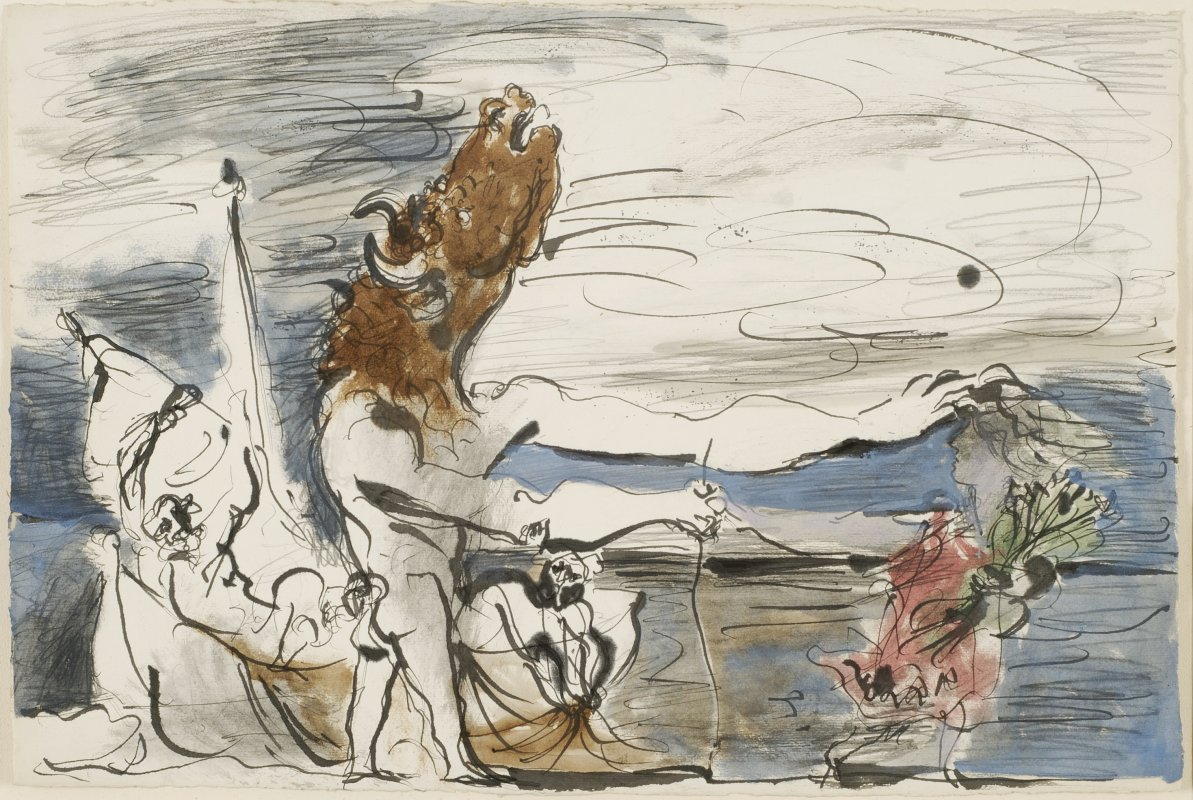 Pablo Picasso: The Blind Minotaur is Led by a Maiden, 1934<br />Collection Hegewisch, © Succession Picasso / VG Bild-Kunst, Bonn 2010; Photo: Nicolai Stephan