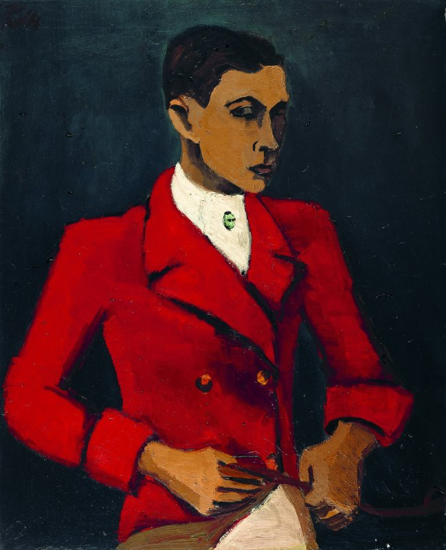Helmut Kolle: Self-Portrait in Hunting Jacket I, c. 1930<br />Private collection Hamburg