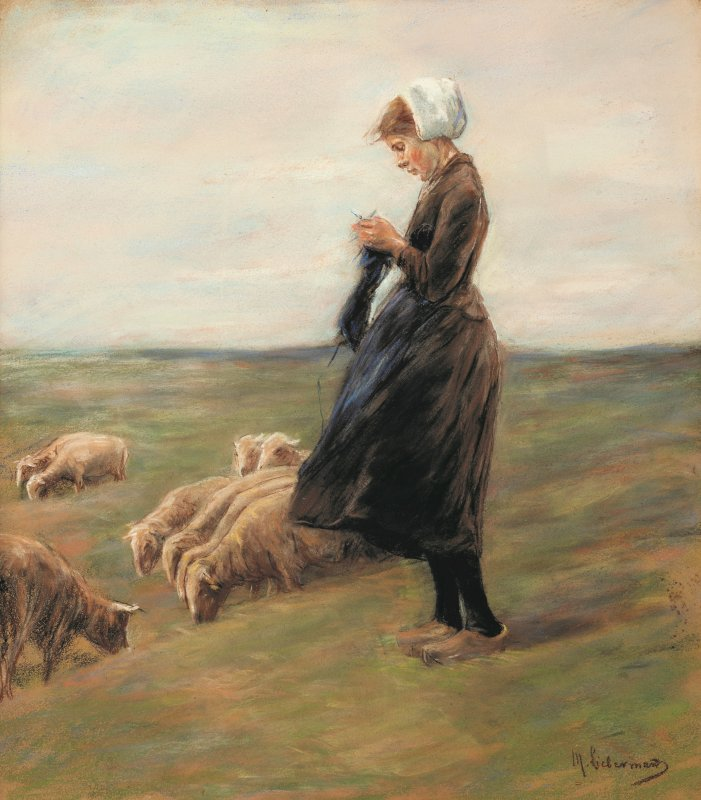 Max Liebermann: Shepherdess, 1887<br />Private collection, photo: Andreas Weiss