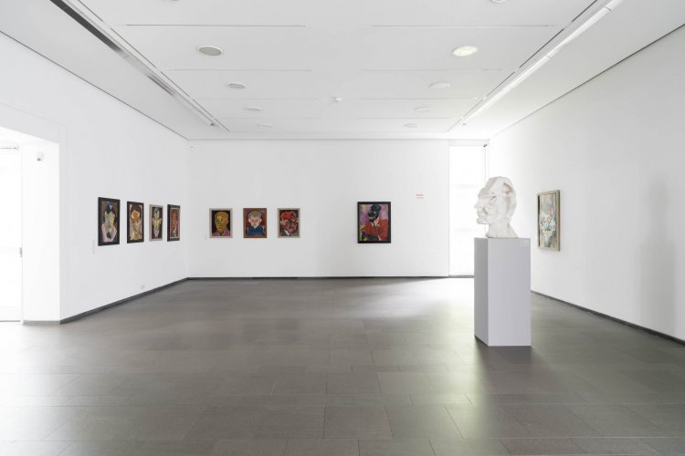 Exhibition view »Force Fields. Carl Lohse. The Paintings 1919/21«, Ernst Barlach Haus 2017