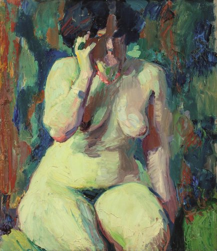 Franz Nölken: Seated Nude (Cellina Visconti), 1907