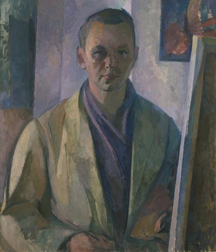 Franz Nölken: Self-portrait at the Easel, 1913