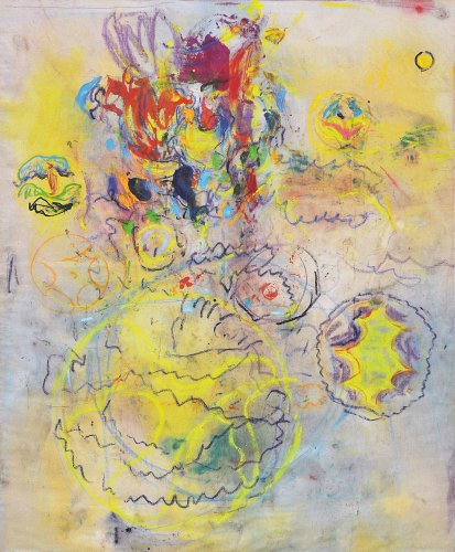 Norbert Prangenberg: Picture, 2003, pastel and pigment on canvas, 220 x 180 cm, Estate of Norbert Prangenberg