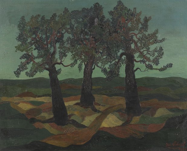 Josef Scharl: Landscape with Three Trees, 1934