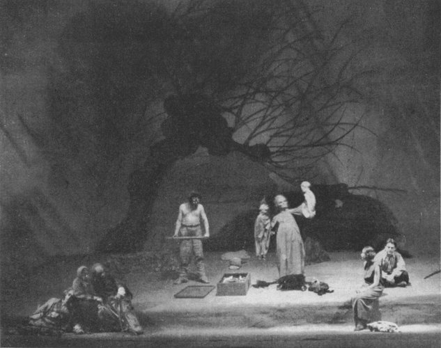 Premiere of Barlach's play 'The Foundling' at the Schauspielhaus Königsberg, 1928, Regie: Fritz Jessner