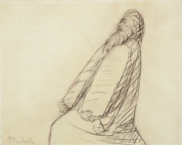 Ernst Barlach: Moses with Tablets of Law, 1912/13