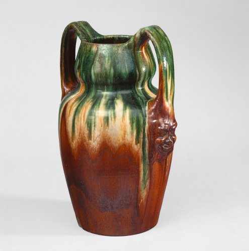Ernst Barlach: Double-handled Vessel with Masks XII, c. 1905/06