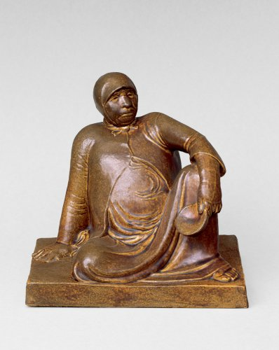 Ernst Barlach: Russian Beggarwoman with Bowl, 1906