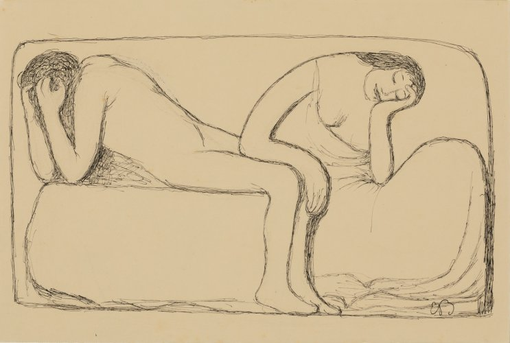 Ernst Barlach: Two People, 1908