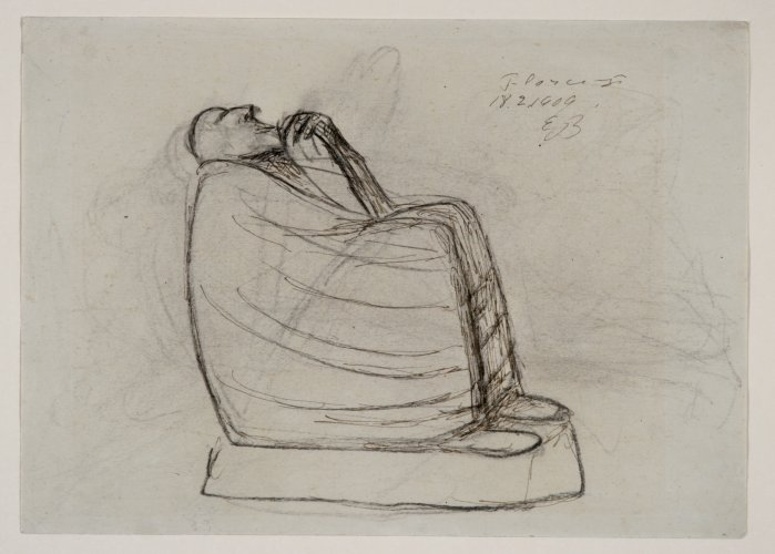 Ernst Barlach: Seated Astrologer, 1909