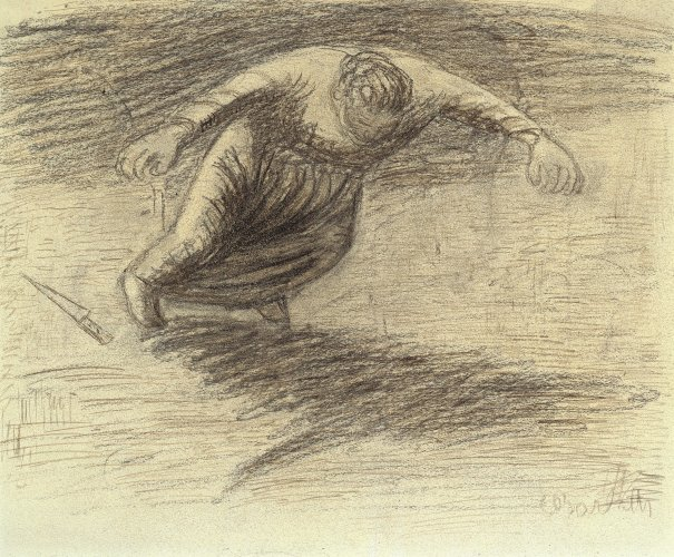 Ernst Barlach: Falling Woman (Drawing for the drama Der tote Tag (The Dead Day), 1910/11